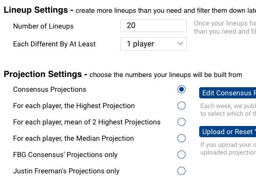Multi Lineup Optimizer